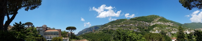Italy Travel Tip | Hire a Private Driver to Take You to the Amalfi Coast | Panoramic shot of Ravello