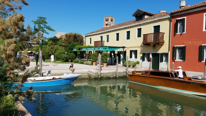 Boat and restaurant in Torcello