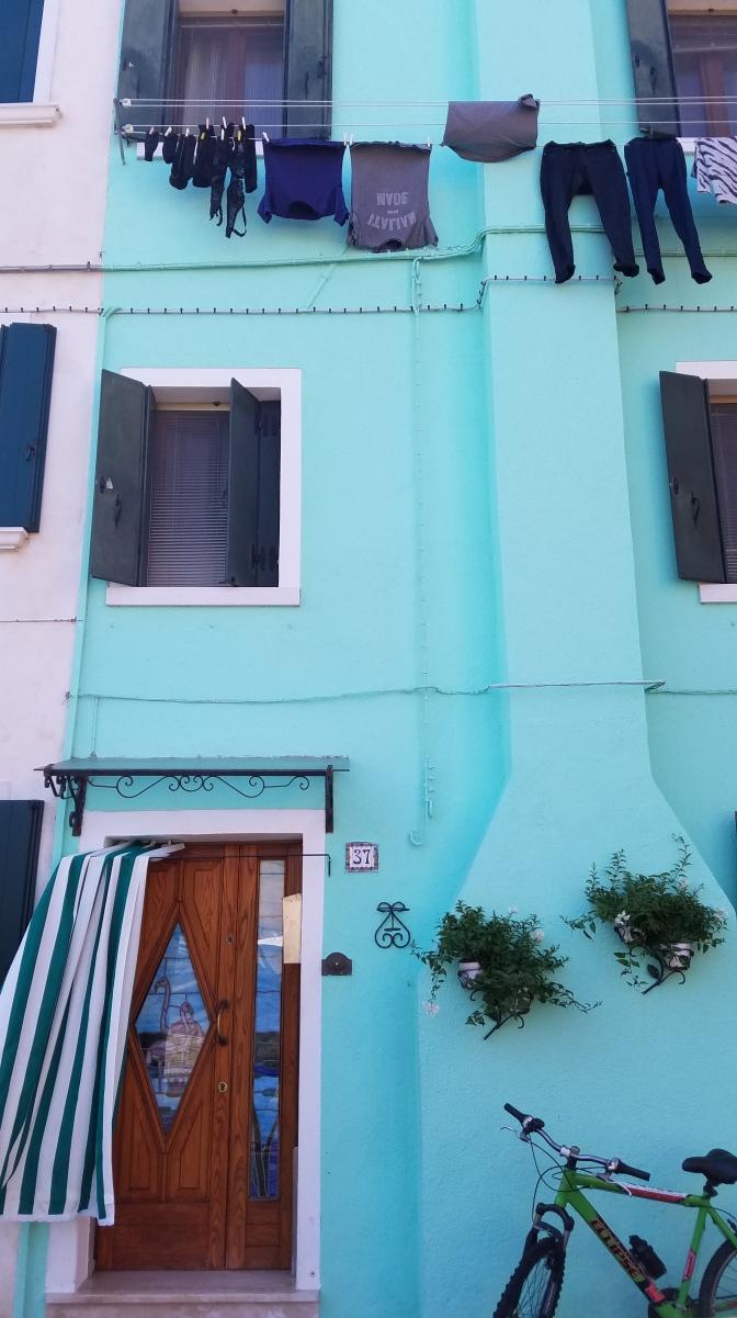 Building in Burano, Italy