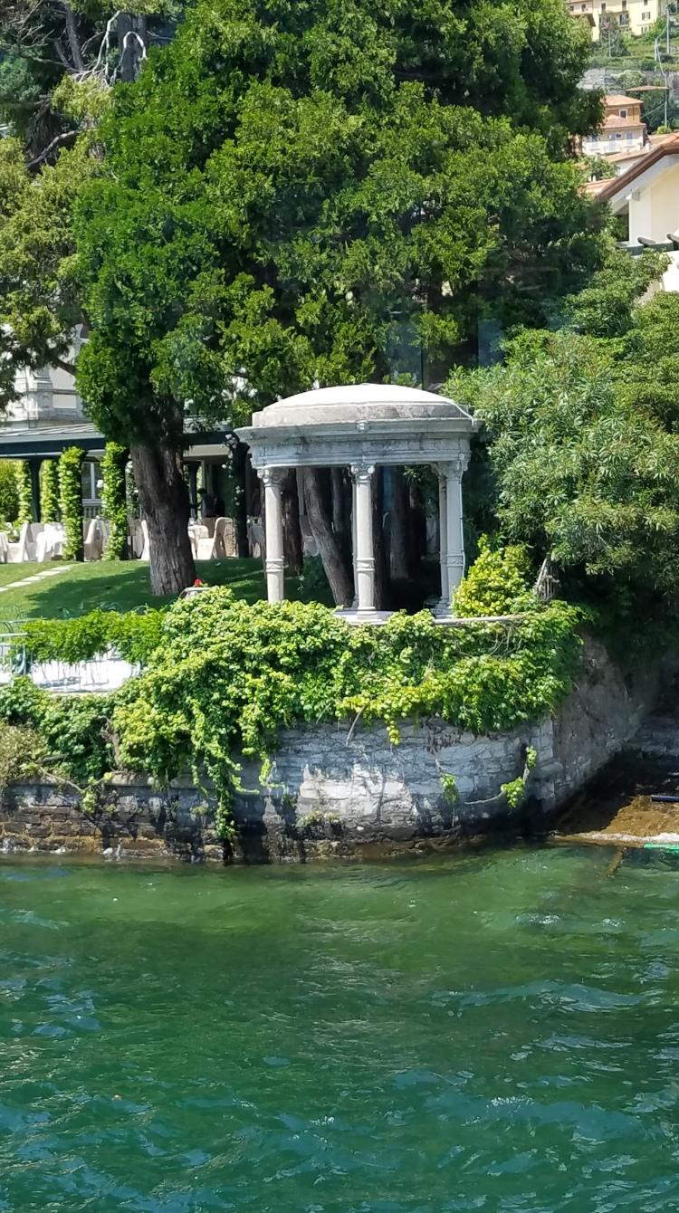 Gazebo in Lake Como, Italy