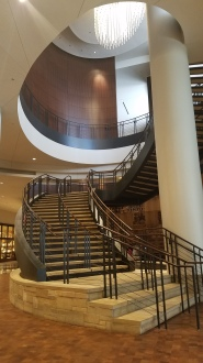 Staircase at the entry of the Country Music Hall of Fame, Nashville, TN