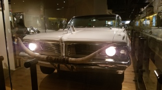 Front view of gun-adorned country music star's vehicle
