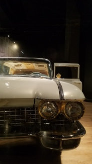 Front of Elvis's snazzy car
