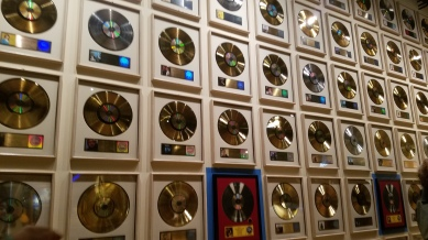 Wall of albums, Country Music Hall of Fame, Nashville, TN