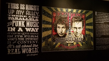 Bob Dylan/Johnny Cash exhibit at the Country Music Hall of Fame, Nashville, TN