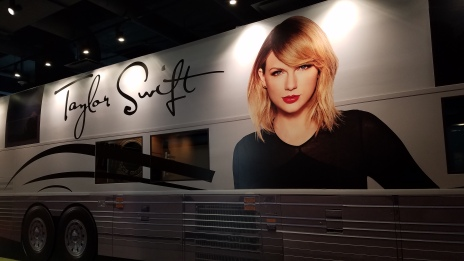 A cardboard replica of Taylor Swift's Tour Bus (sorry, it's not the actual tour bus...I was disappointed too), Country Music Hall of Fame, Nashville, TN