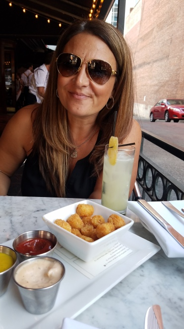Duck-fat tater tots, big sister, and mule
