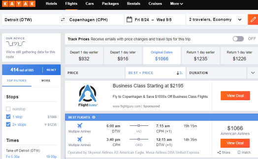 3 sites to use to find affordable airfare | use kayak's plus/minus 3 days feature if you've got some flexibility. click on this to find out more!