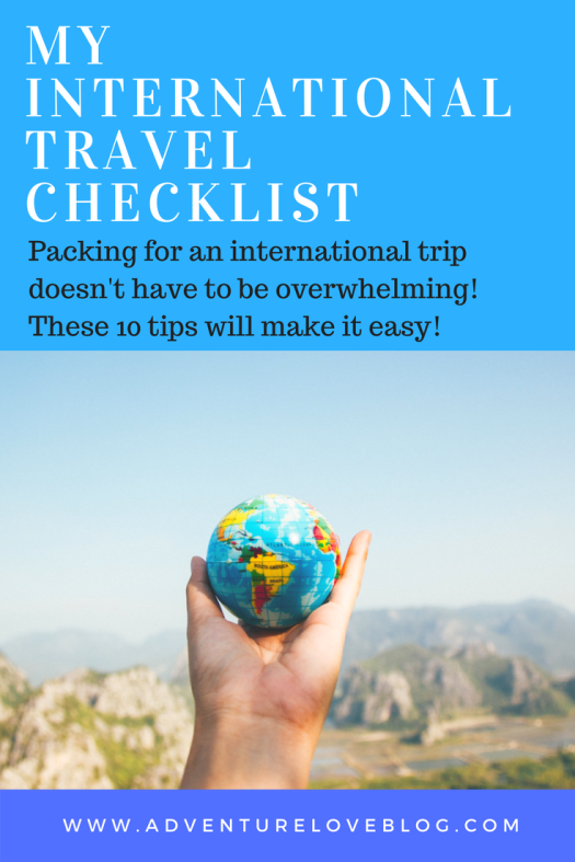 My International Travel Checklist