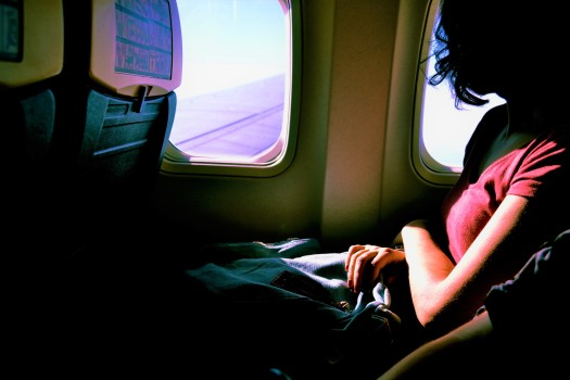 How to Beat Jet Lag in 4 Simple Steps | Wear comfy clothes so you're more comfortable for the long haul.