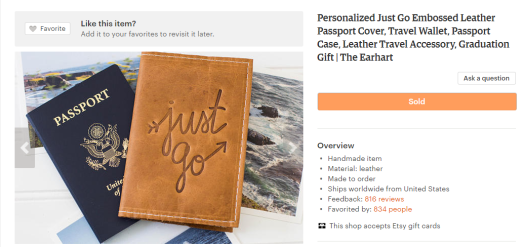 16 awesome gifts for the traveler in your life | Personalized leather passport cover and travel wallet