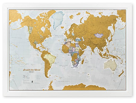 16 awesome travel gifts   Scratch-off world map