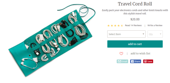16 awesome gifts for the traveler in your life   Travel cord roll