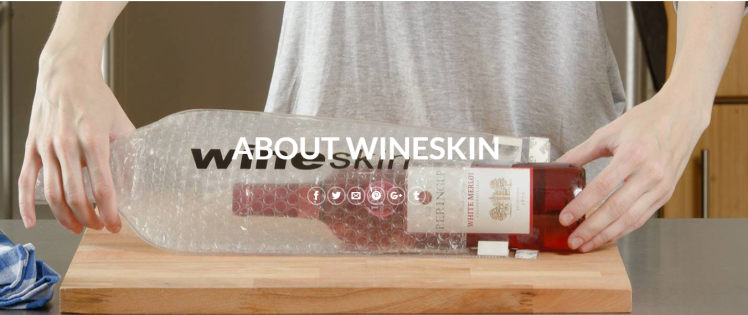16 awesome travel gifts | Wine Skin, for the winelover in your life!