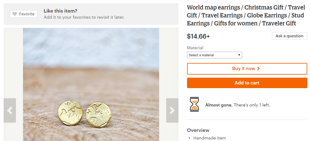 16 awesome travel gift ideas | World map earrings
