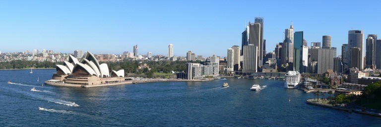 Sydney, Australia Travel Guide | Panoramic View of Sydney Harbor, including Sydney Opera House