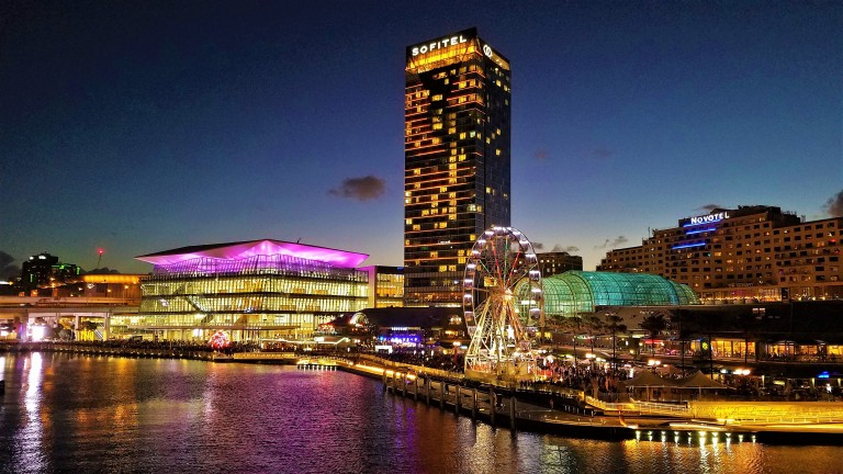 Australia Travel Guide | Darling Harbor at Night